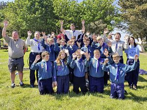 It may have been only a 20-minute Trident journey away, but the 2nd Guernsey Scout Group's Herm weekend camp was the first 'overseas' one in Britain in 2021 and possibly the world, due to Covid-19. Scout leader Tracey De La Haye, assistant Scout leader Justin Lesbirel, assistant Beaver leader Rosalyne Lesbirel, Beaver leader Ben Moore and occasional helper Richard Dowding pictured with the boys and girls.(Pictures supplied by 2nd Guernsey Scout Group)
