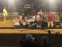 Watch: Kitten freed from crushed cars at monster truck show