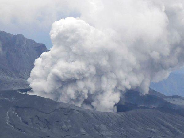 Volcano billows smoke following eruption in southern Japan