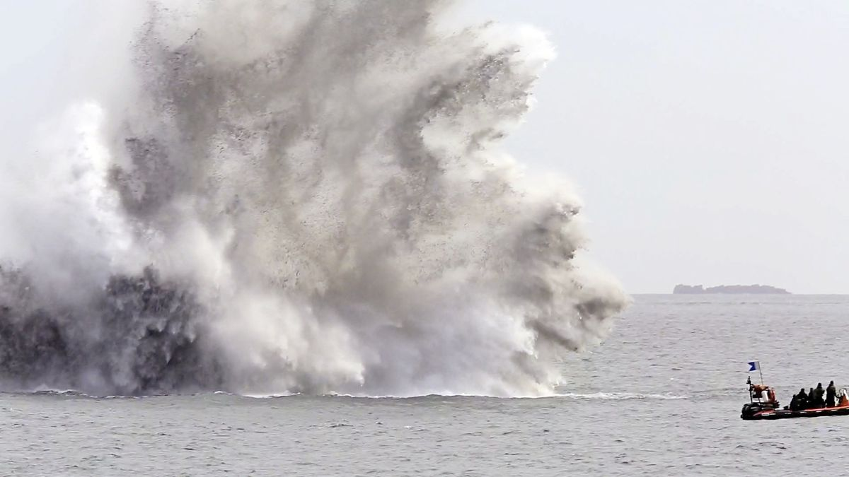 Another Second World War bomb has been found and detonated by the Royal Navy just outside St Peter Port Harbour. (Picture by Adrian Miller, 29540090)