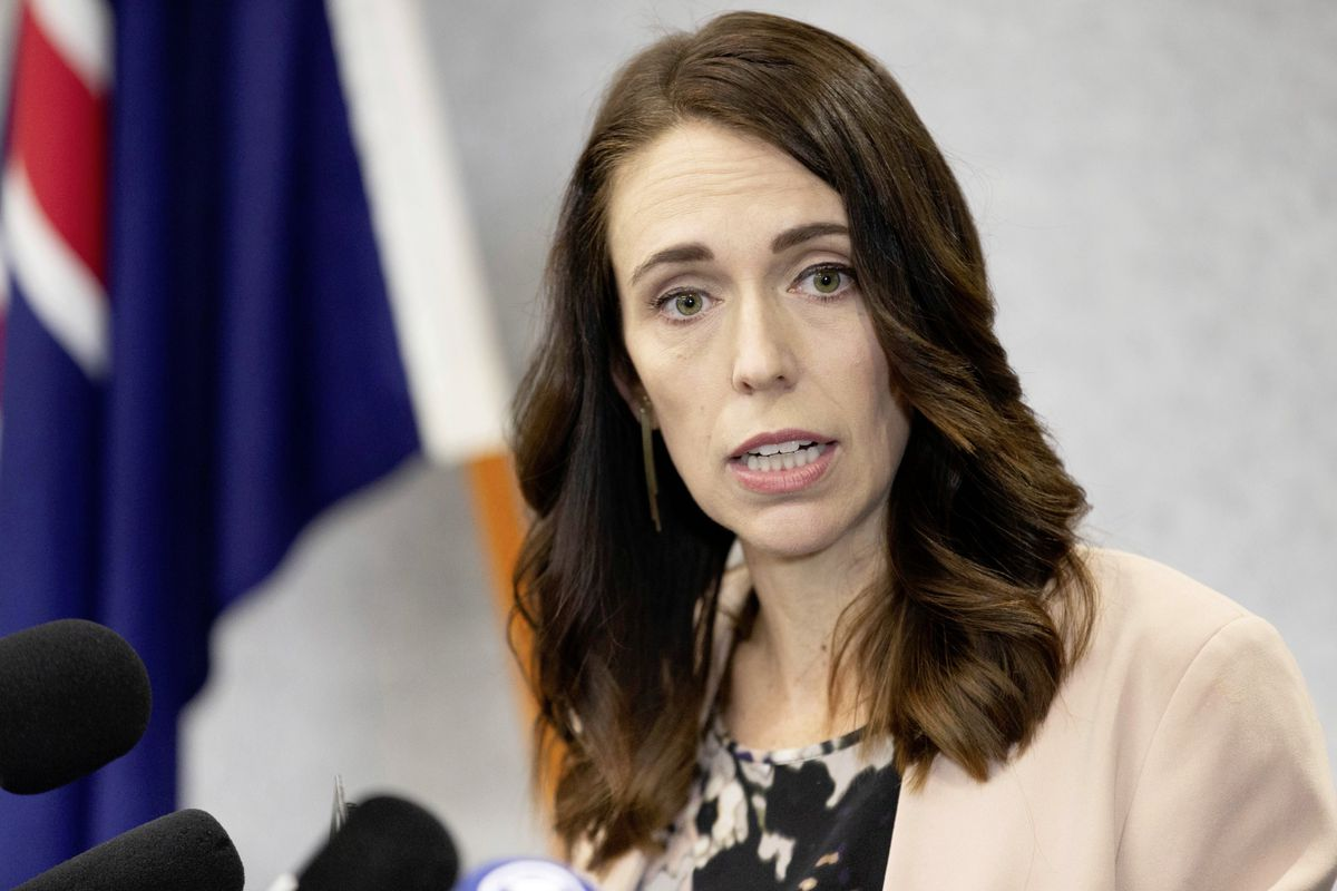 Wellington, New Zealand, December 2020,New Zealand Prime minister Jacinda Ardern in press conference (29295388)