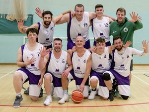 Top team – again: The triumphant Skipton line-up, back row, from left – Aaron Walden, Sam Simon, Blake Carre, coach Max Hunter. Front – Dettory King, Matt Sawbridge, Paul van Beek, Harry Sykes and max Hamon. (Pictures by Andrew Le Poidevin, 29555087)