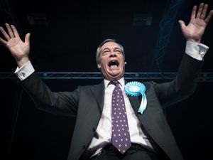 An opinion poll suggests Nigel Farage and his one-man Brexit Party could topple the Tories. (Danny Lawson/PA Wire)