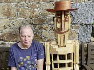 Martin and Jane Spratt's exhibit, Woody, won The People's Choice Award at Torteval's 18th Annual scarecrow festival. It was built by Martin Spratt, pictured. (29810683)