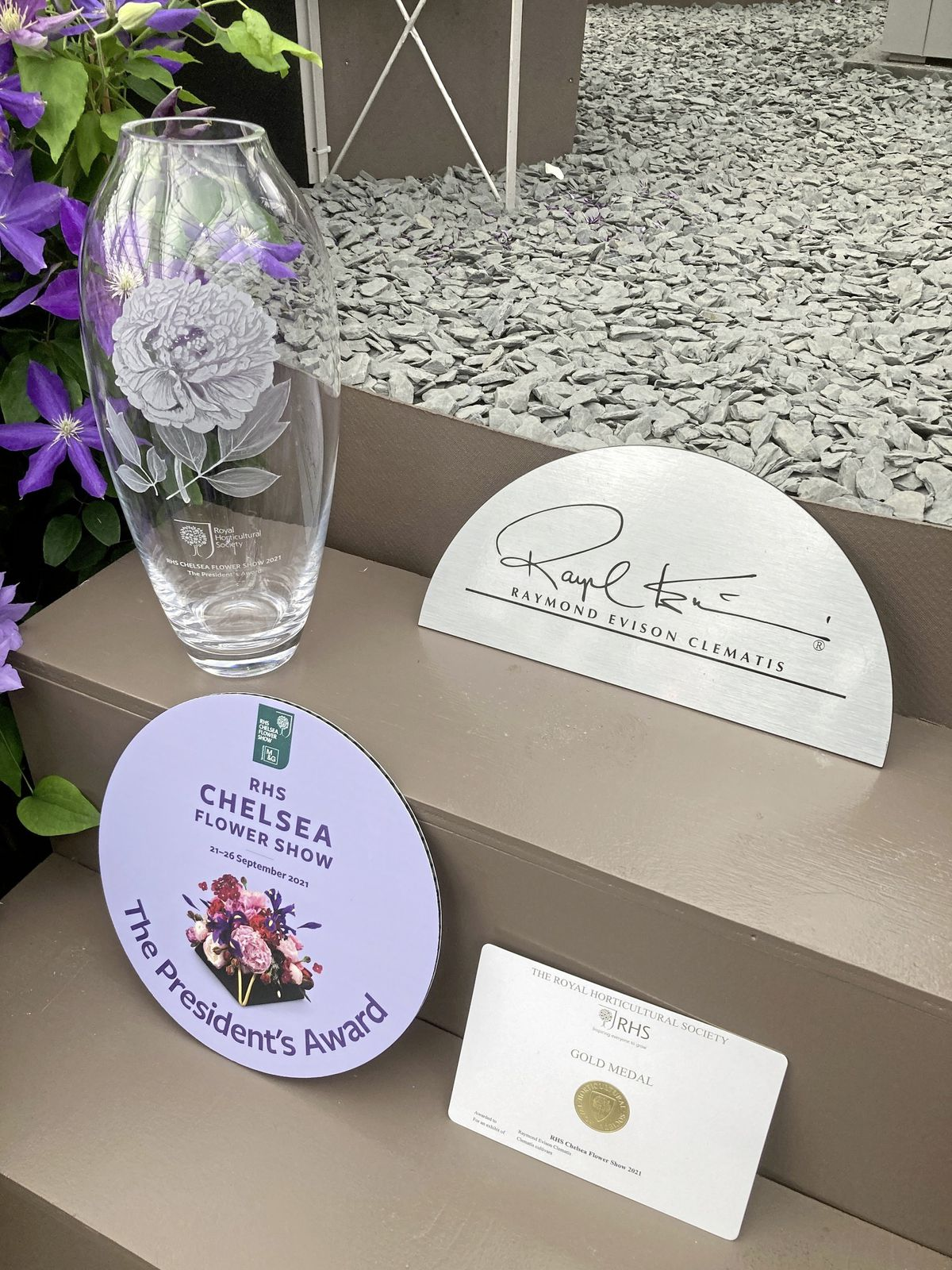 Guernsey's Raymond Evison Clematis has won the coveted President's Award for the most outstanding exhibition at the RHS Chelsea Flower Show. The team also claimed a gold medal, the 31st for Mr Evison. (30008515)
