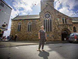 St Peter Port constable Zoe Lihou at Town Church Square. (Picture By Peter Frankland, 29853469)