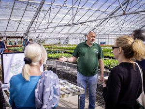 Grow Ltd's Stuart Smale giving a group a tour during the open day. (Pictures by Sophie Rabey, 29501393)