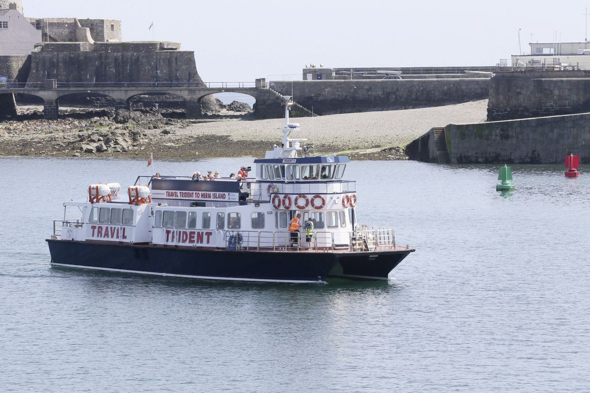 The Herm Trident resumed passenger sailings to and from the island yesterday. (Picture by Adrian Miller, 28352178)
