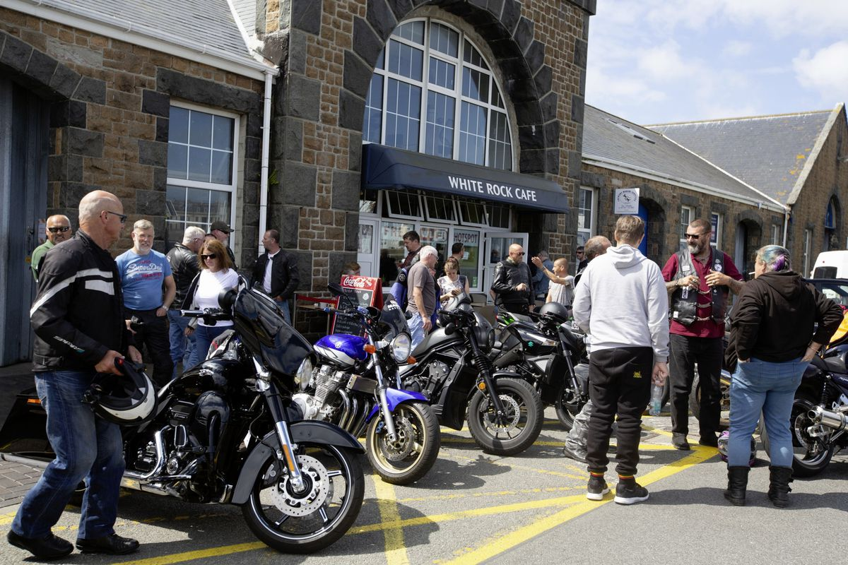 The ride-out ended at the White Rock Cafe. (Picture by Cassidy Jones, 29824415)