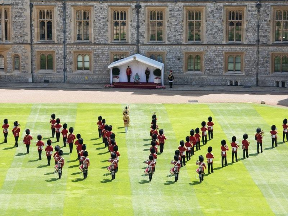 Queen's birthday marked with socially distanced military tribute