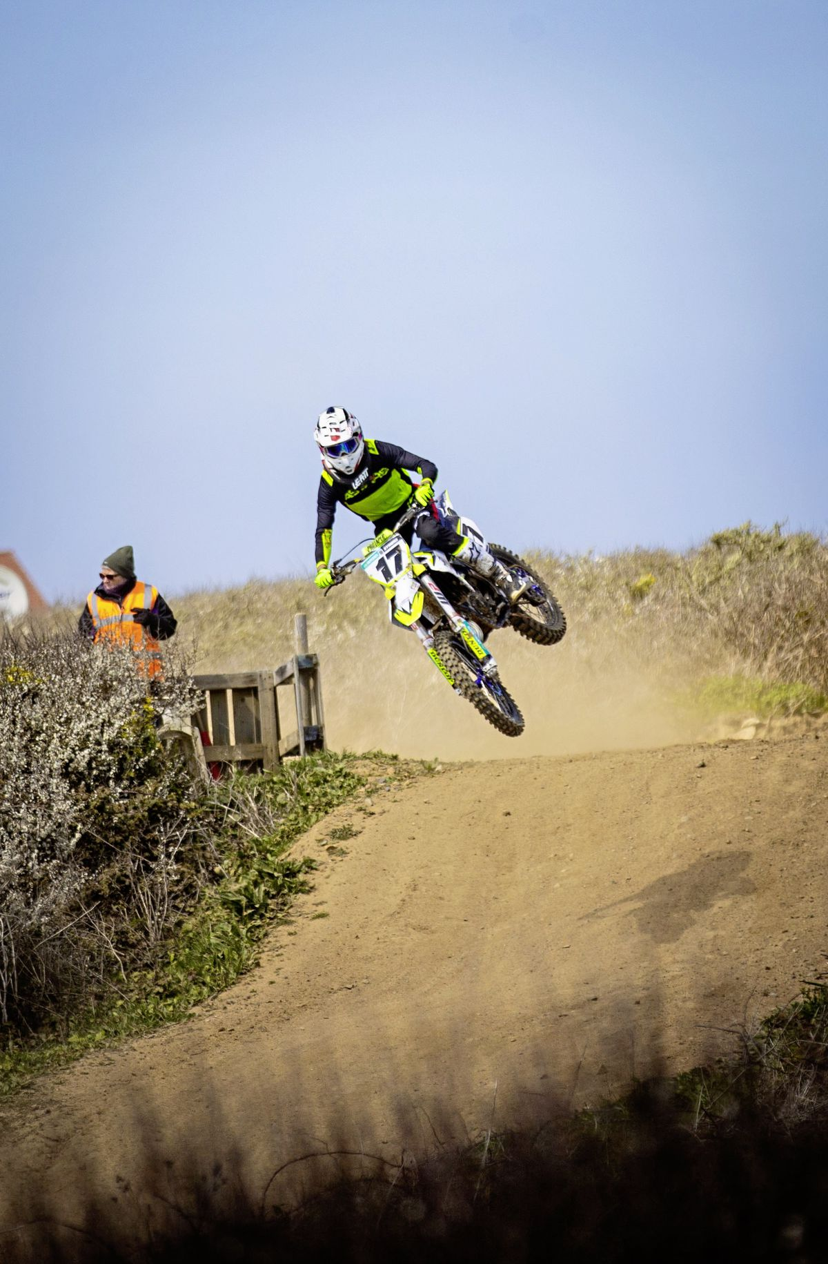 The 2020 champion George Symons sets a hot pace on the Husqvarna TC125.  (Pictures by Sophie Rabey, 29451173)