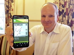 Bus Users Group co-ordinator Fergus Dunlop is keen to promote the Guernsey bus tracker app. The group is also looking to increase the number of bus shelters. (Picture by Juliet Pouteaux, 28835793)