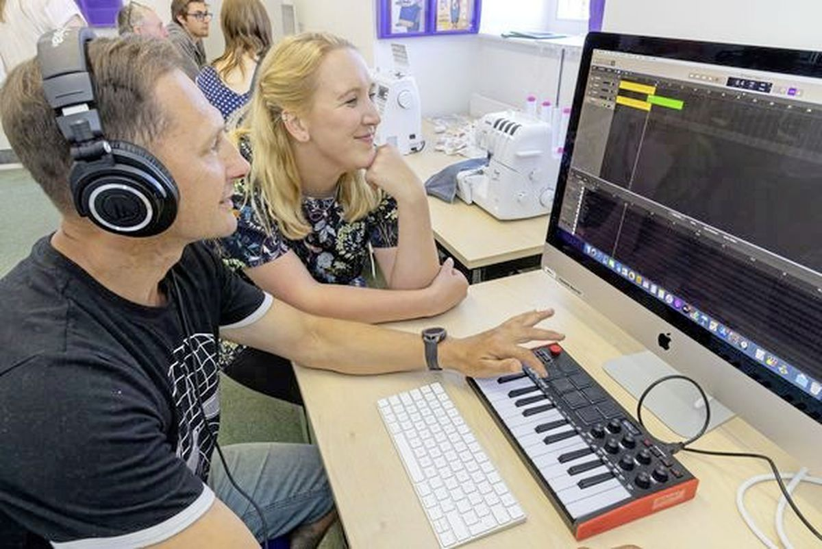 The Fab Lab at the Guille-Alles Library includes music editing software and supports one of its key objectives of lifelong learning. (Pictures by Chris George Photography)