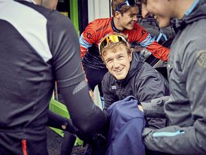 All smiles: Guernsey professional rider Tobyn Horton and his Madison Genesis team begin their Tour Series campaign this evening in Redditch. (Picture from Madison Genesis, 24610214)
