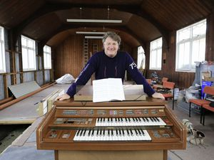 Pic by Adrian Miller 25-03-21 Kings Barn mission Hall. Nigel and wife, Cate, bought The King's Barn Mission last year. It will be demolished and turned into a home. Nigel is looking to find a new home for the organ. I understand he is happy to give it to a good home.. (29372287)