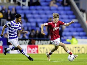 Alex Scott, right, playing for Bristol City against Reading. (Picture by JMP UK)