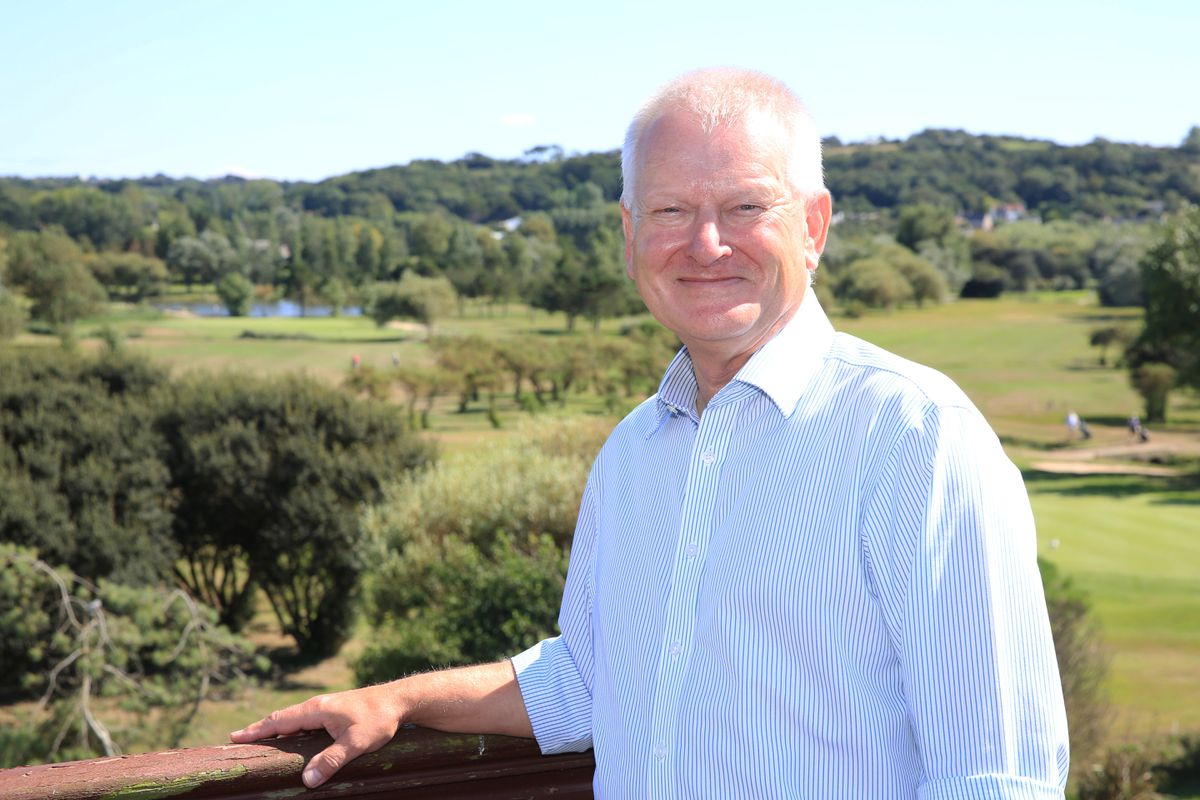 Stephen Lansdown at La Grande Mare. (Picture  by Adrian Miller, 29265873)