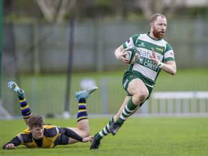 Luke Sayer created the first and scored the second of Guernsey's two tries in the narrow win over Hertford. (Picture by Martin Gray, 26816931)