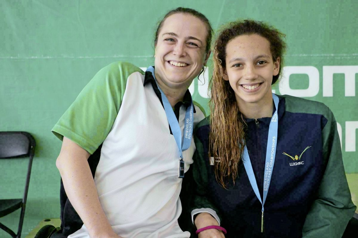 Sarah Whitchurch, left, had a successful meeting, winning gold and silver medals. (24606524)