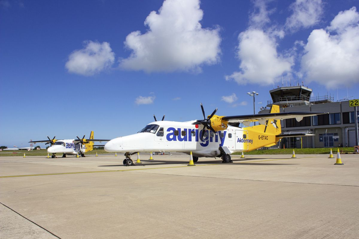 The Dorniers have kept services to Alderney going, both from when they were lifekine flights and more recently taking holidaymakers from Guernsey there.