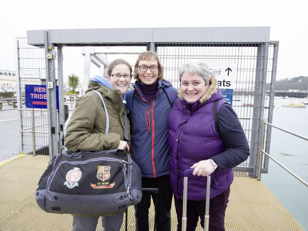 Friends off to Herm, left to right, Joanne Hardill, Emma Sparks and Rebecca O'Keefe. (Pictures by Adrian Miller, 29375962)