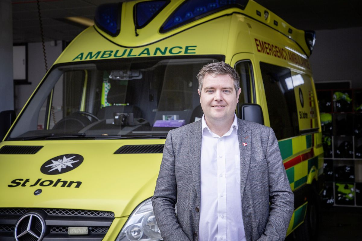 Picture by Sophie Rabey.  14-10-20.  .St Johns Ambulance is chasing about 60 people to pay outstanding bills for ambulance services.  Chief financial officer Stuart Brennan.. (28802742)
