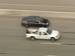 Bank robbery suspects arrested after slapstick car chase