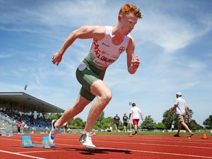 Picture By Steve Sarre 23-06-18.Footes Lane .Intertust Games 2018 .400m Hurdles Chalmers.Alastair Chalmers new AC record (27843687)