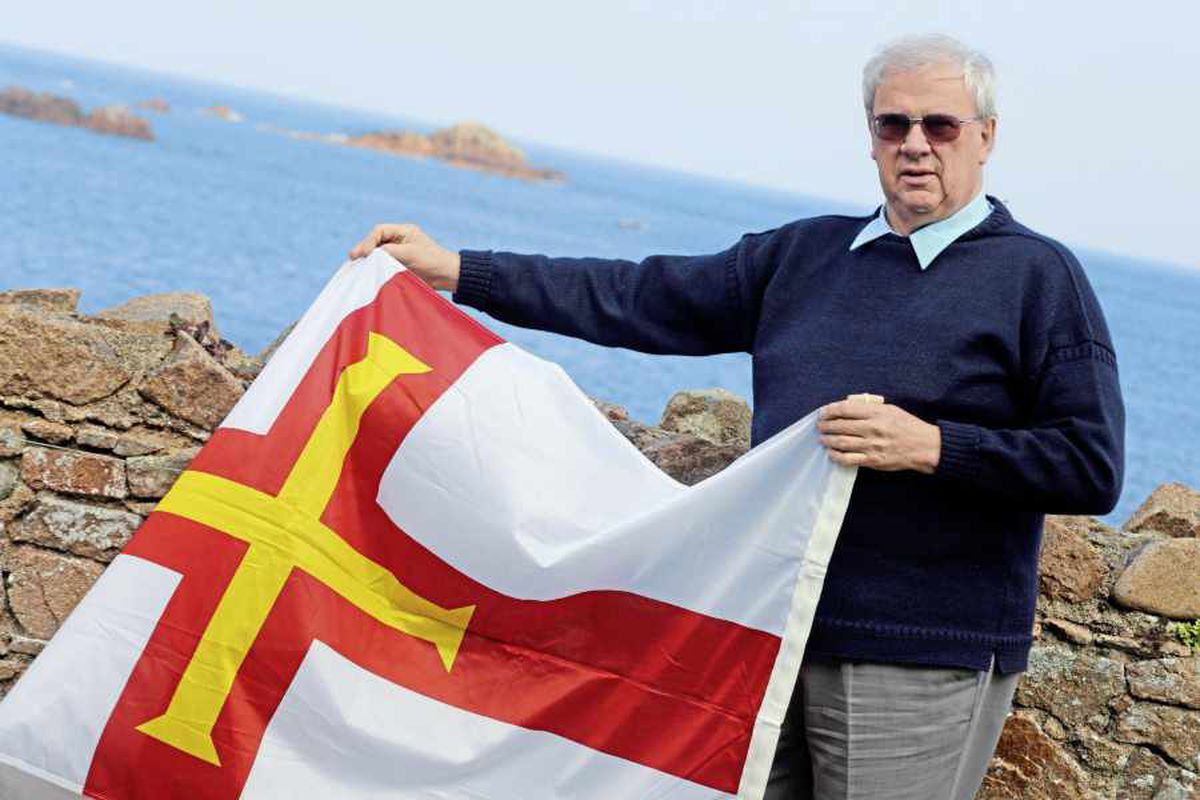 'Unusual' flag which celebrates Liberation cut down from rock