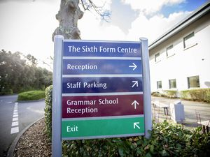 Could this sign there today be as relevant in the future? One of the secondary school models suggests a sixth form college on the same site as an 11-16 school, with Les Varendes considered the best site. (Picture by Peter Frankland, 29057054)
