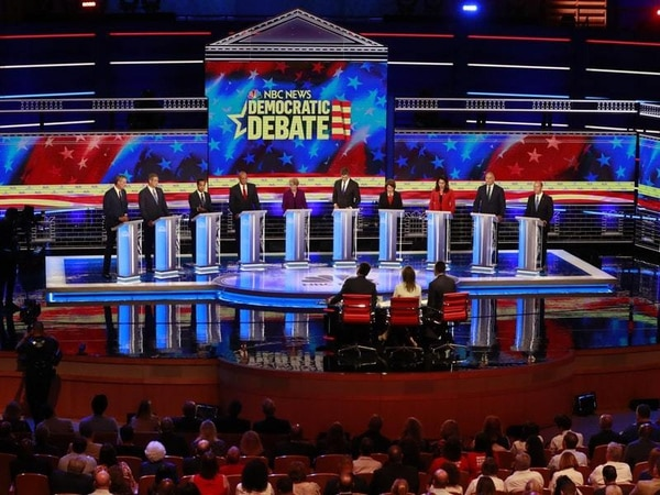 US Democrats face off in first presidential debate