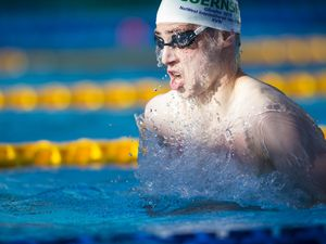 Picture By Peter Frankland. 08-07-19 Island Games 2019 Gibraltar. IG 2019. Swimming. Charlie-Joe Hallett. (26475585)