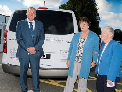 Ron Short Centre minibus dedicated to past manager