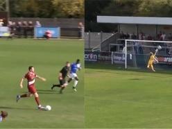 Non-league defender scores Beckham-esque goal from his own half
