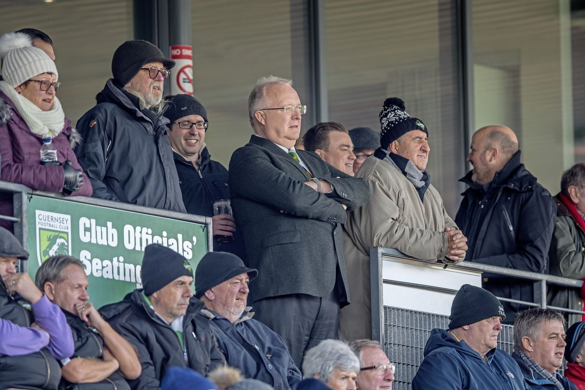 Guernsey Rugby Club chairman Charles McHugh watching the game between Guernsey Raiders v Tunbridge Wells. (Picture by Martin Gray, www.guernseysportphotography.com)