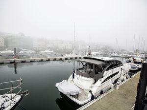 The pontoons in the Victoria Marina saw the biggest number of visiting boats for more than a year following the change in travel restrictions. (Picture by Peter Frankland, 29722291)
