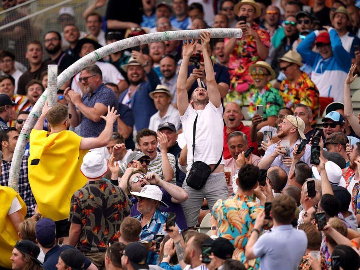 Crowd brings colour back to Edgbaston as England avoid batting collapse