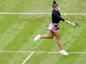 Great Britain's Heather Watson during her match against Poland's Iga Swiatek day four of the Viking International at Devonshire Park, Eastbourne. Picture date: Tuesday June 22, 2021.. (29686559)