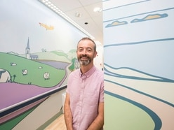 Artist's work brings familiar places into dementia ward
