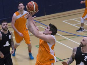 Pic by Adrian Miller 20-02-19       .Beau Sejour Basketball Giants v Skipton. (24373266)