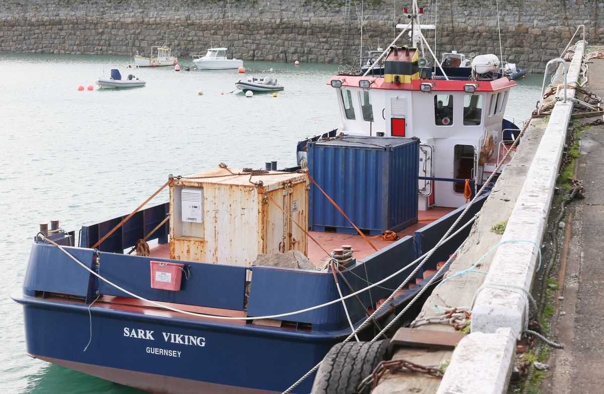 Shipping large amounts of baggage to Sark on the cargo vessel, the Sark Viking, is one option the shipping company is considering. (Picture by Adrian Miller, 29071800)