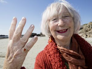 Elaine van Beek was reunited with her ring after it was found by a metal detectorist at Grandes Rocques. (Picture by Adrian Miller, 29424901)