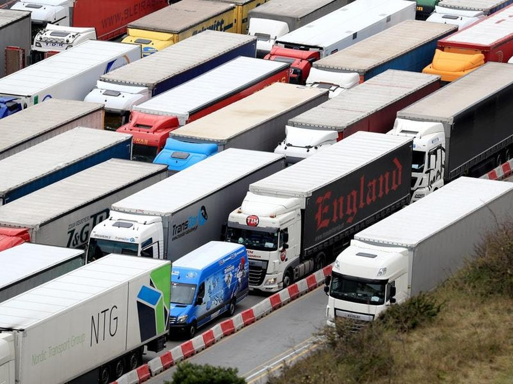 Lorry drivers worried about lack of food and toilet provision in no