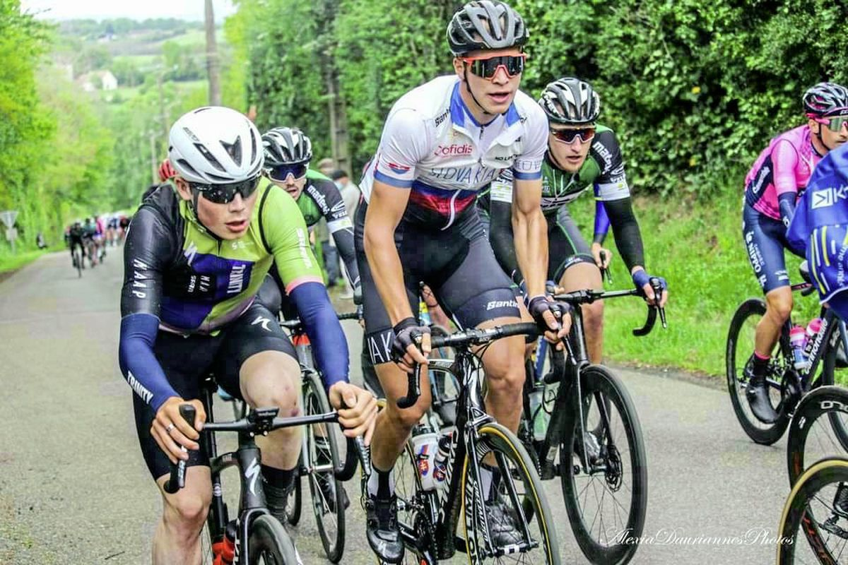 Outstanding ride: Sam Culverwell, left, was with the Trinity Racing team at the Tour d'Eure-et-Loir. (29556149)