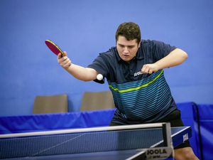 Picture by Sophie Rabey.  11-01-21.  Capelles Open Table Tennis Action.  Ben Foss, defending champion.. (29101469)
