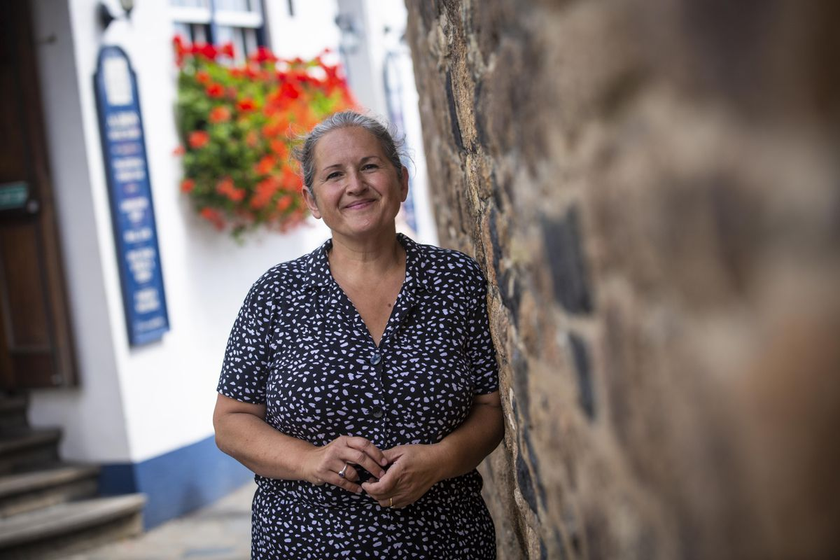 St Peter Port constable Zoe Lihou in Church Square. (Picture by Peter Frankland, 29876137)