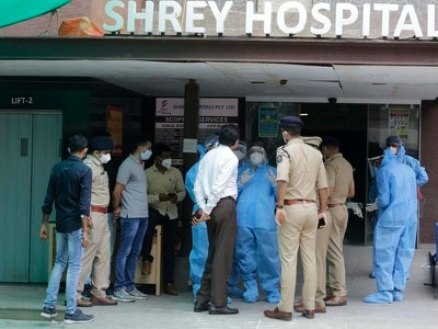 Covid-19 patients die in fire at Indian hospital's intensive care unit