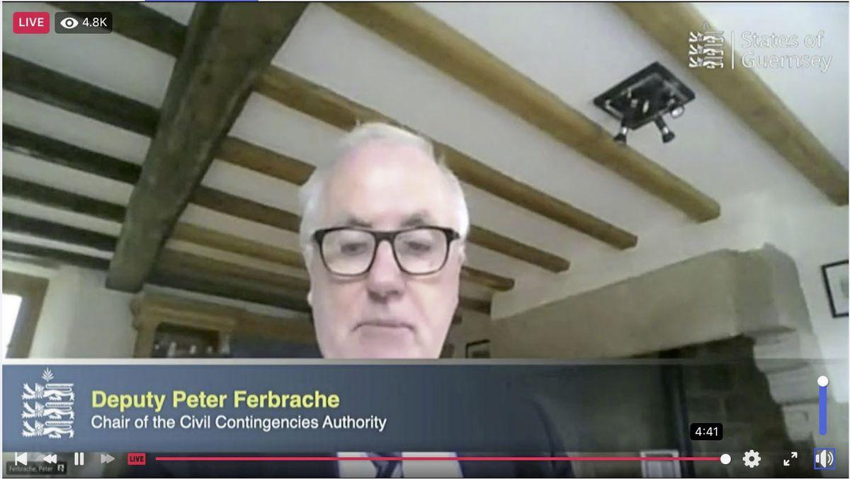 Civil Contingencies Authority chairman Peter Ferbrache. (29306839)