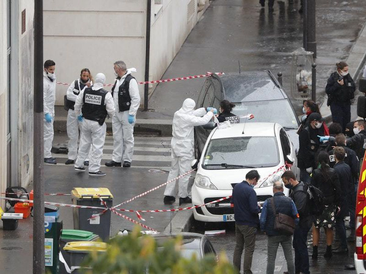 Paris stabbing suspect targeted Charlie Hebdo, says official