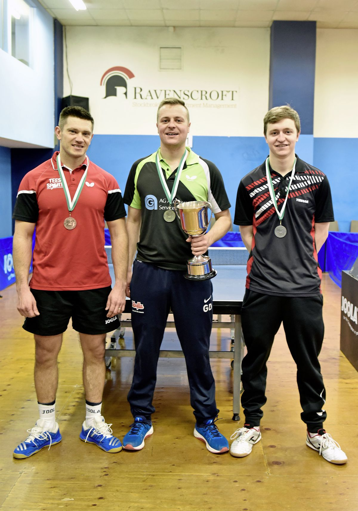 The CI Open Top 12 medallists: (left to right) Mariusz Cieminski (bronze), Garry Dodd (gold) and Josh Stacey (silver). (Picture by Mark Windsor, 23734042)